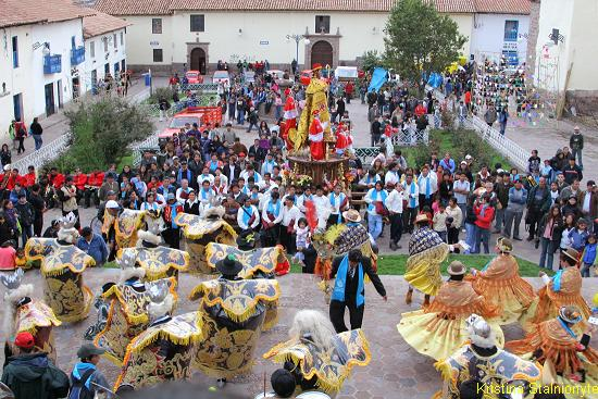 """Procession in Cusco"""
