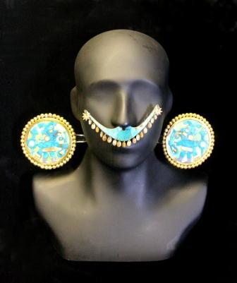 pieces studded with turquoise