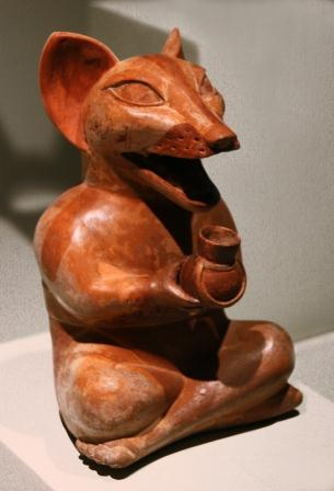ceramics: fox