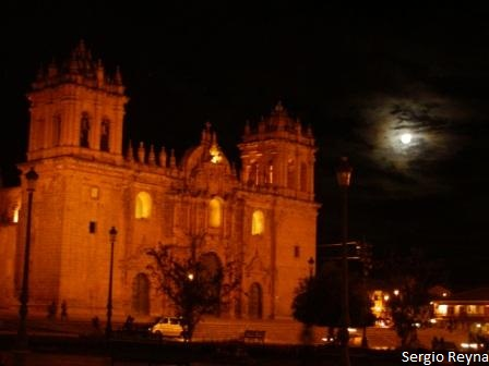 The cathedral and the moon