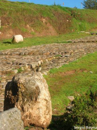 At the entrance of Sacsayhuaman